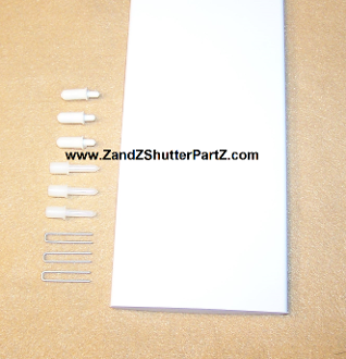 3 1 2 wide plantation shutter louver replacement kit 36 inch - Plantation shutters kits ...
